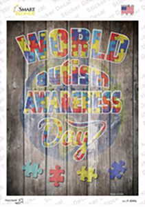 World Autism Awareness Day Wholesale Novelty Rectangle Sticker Decal