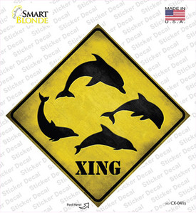 Dolphins Xing Wholesale Novelty Diamond Sticker Decal