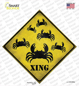 Crab Xing Wholesale Novelty Diamond Sticker Decal