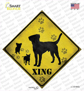 Dogs Xing Wholesale Novelty Diamond Sticker Decal