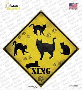 Cats Xing Wholesale Novelty Diamond Sticker Decal