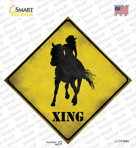 Cowgirl Xing Wholesale Novelty Diamond Sticker Decal