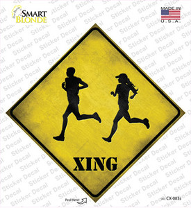 Runners Xing Wholesale Novelty Diamond Sticker Decal