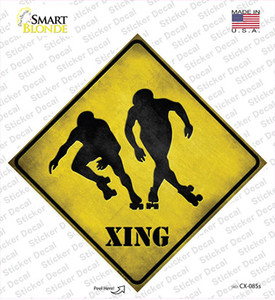 Rollerskaters Xing Wholesale Novelty Diamond Sticker Decal