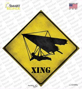 Hang Glider Xing Wholesale Novelty Diamond Sticker Decal