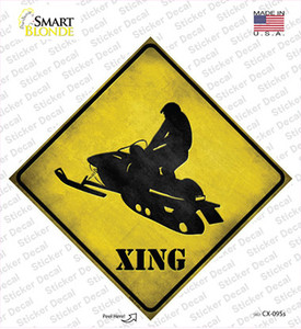 Snow Mobile Xing Wholesale Novelty Diamond Sticker Decal