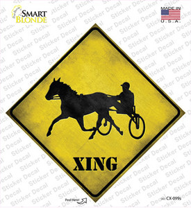 Harness Racing Xing Wholesale Novelty Diamond Sticker Decal