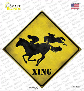 Horse Racing Xing Wholesale Novelty Diamond Sticker Decal