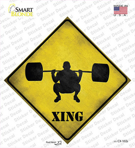 Weight Lifting Xing Wholesale Novelty Diamond Sticker Decal