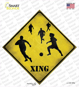 Soccer Xing Wholesale Novelty Diamond Sticker Decal