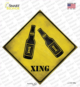 Beer Xing Wholesale Novelty Diamond Sticker Decal