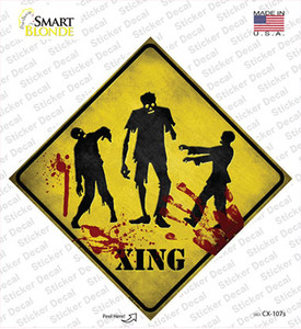 Zombies Xing Wholesale Novelty Diamond Sticker Decal