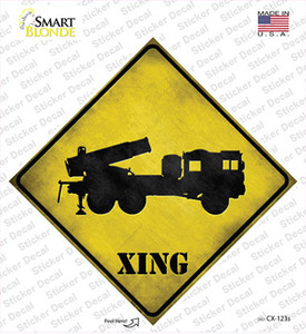 Missile Launcher Xing Wholesale Novelty Diamond Sticker Decal
