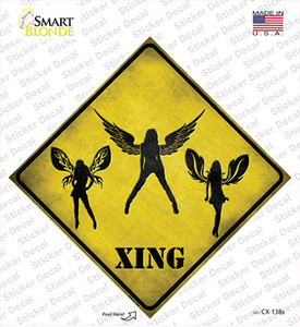 Angels Xing Wholesale Novelty Diamond Sticker Decal