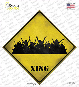 Event Crowd Xing Wholesale Novelty Diamond Sticker Decal
