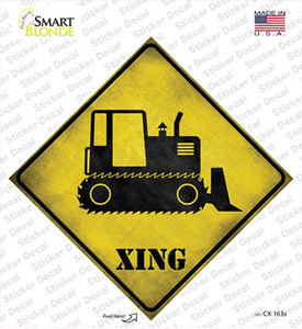 Crawler Tractor Xing Wholesale Novelty Diamond Sticker Decal
