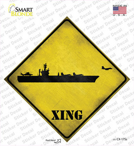 Aircraft Carrier Xing Wholesale Novelty Diamond Sticker Decal
