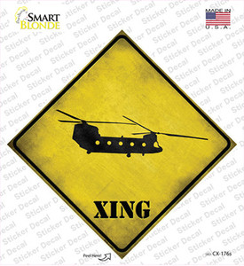 Transport Helicopter Xing Wholesale Novelty Diamond Sticker Decal