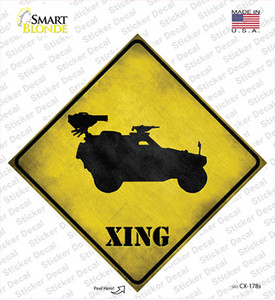 Truck Mounted Weapon Xing Wholesale Novelty Diamond Sticker Decal