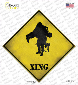 Soldier Carrying Wounded Xing Wholesale Novelty Diamond Sticker Decal