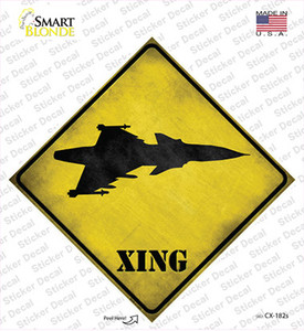 Jet Fighter Xing Wholesale Novelty Diamond Sticker Decal
