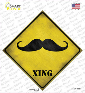 Classic Moustache Xing Wholesale Novelty Diamond Sticker Decal