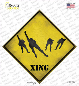 Speed Skating Group Xing Wholesale Novelty Diamond Sticker Decal