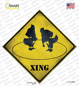 Sumo Ring Xing Wholesale Novelty Diamond Sticker Decal