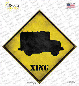Military Truck Xing Wholesale Novelty Diamond Sticker Decal