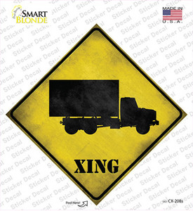 Supply Truck Xing Wholesale Novelty Diamond Sticker Decal