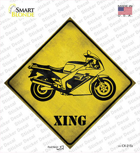 High Speed Motorcycle Xing Wholesale Novelty Diamond Sticker Decal