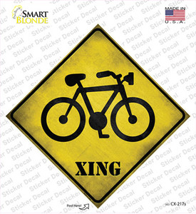Bicycle Xing Wholesale Novelty Diamond Sticker Decal