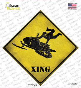 Extreme Snow Mobile Riding Xing Wholesale Novelty Diamond Sticker Decal
