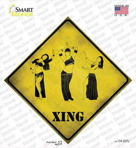 Belly Dancers Xing Wholesale Novelty Diamond Sticker Decal