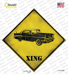 Classic 57 Chevy Xing Wholesale Novelty Diamond Sticker Decal