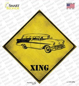 Classic 59 Cadillac Xing Wholesale Novelty Diamond Sticker Decal