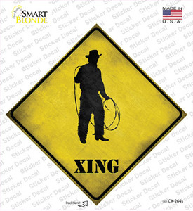 Cowboy With Lasso Xing Wholesale Novelty Diamond Sticker Decal