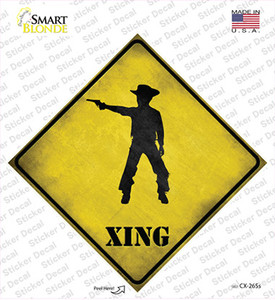 Cowboy With Pistol Xing Wholesale Novelty Diamond Sticker Decal