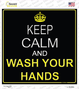 Keep Calm Wash Your Hands Wholesale Novelty Square Sticker Decal
