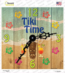 Tiki Time Wholesale Novelty Square Sticker Decal