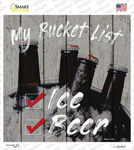 Beer Bucket List Wholesale Novelty Square Sticker Decal