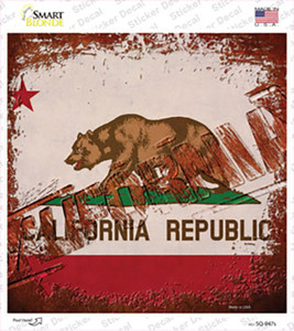 California Rusty Stamped Wholesale Novelty Square Sticker Decal