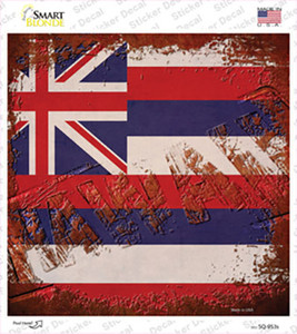 Hawaii Rusty Stamped Wholesale Novelty Square Sticker Decal