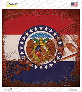 Missouri Rusty Stamped Wholesale Novelty Square Sticker Decal