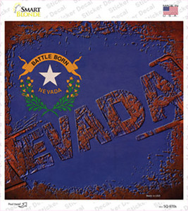 Nevada Rusty Stamped Wholesale Novelty Square Sticker Decal