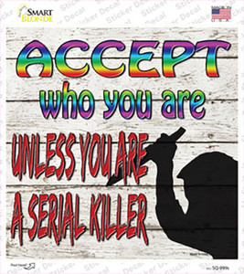 Accept Who You Are Wholesale Novelty Square Sticker Decal