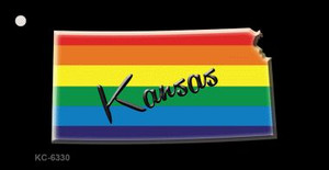 Kansas Rainbow State Wholesale Novelty Key Chain