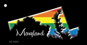 Maryland Rainbow State Wholesale Novelty Key Chain