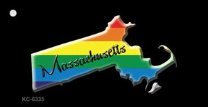 Massachusetts Rainbow State Wholesale Novelty Key Chain