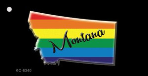 Montana Rainbow State Wholesale Novelty Key Chain
